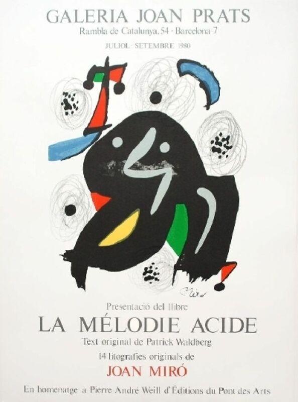 Joan Miró, 'Presentació del llibre La Mélodie Acide', 1980, Print, Original lithograph poster on paper, Samhart Gallery
