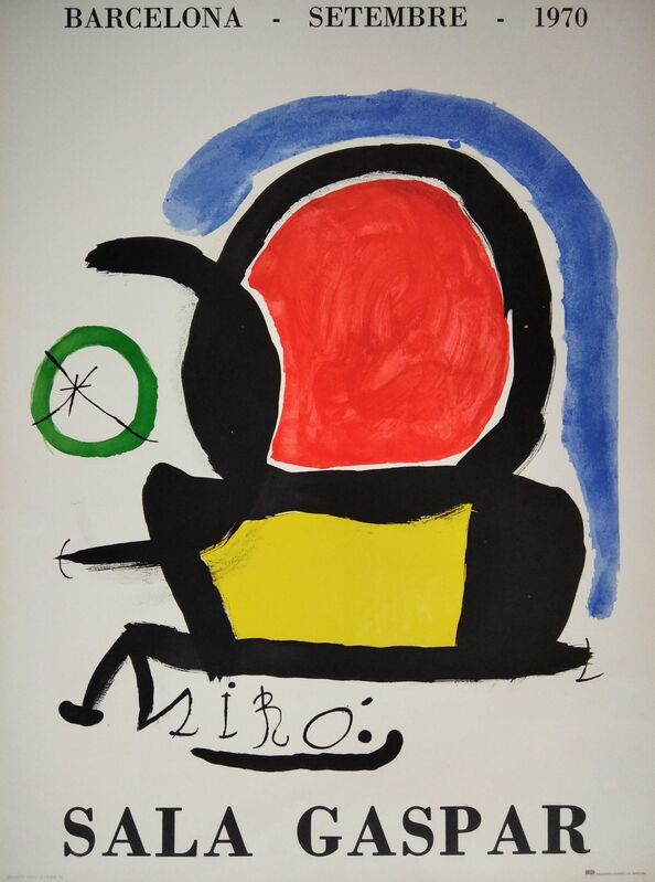 Joan Miró, 'Sala Gaspar - Barcelona, setembre, 1970', 1970, Posters, Lithographic poster, promoart21