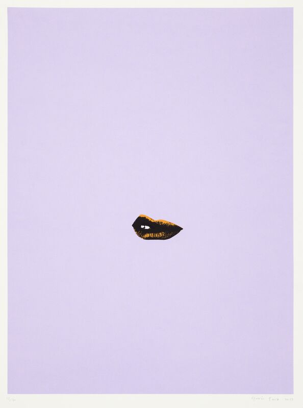 Gavin Turk, 'Sneer (Lilac)', 2013, Print, Silkscreen on paper. Numbered on bottom left and signed and dated on bottom right in pencil. Unframed, Paul Stolper Gallery