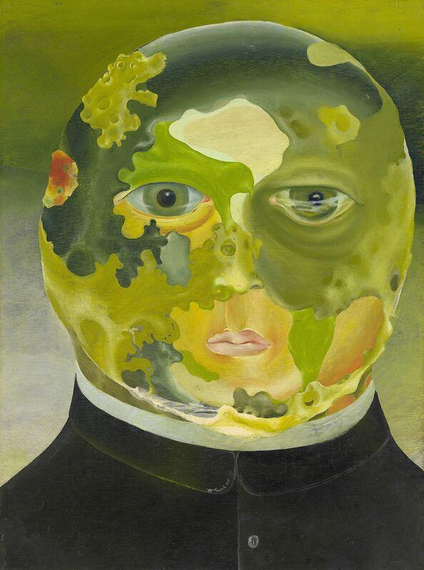Dusan Marek, 'Scientific priest ', 1965, Painting, Oil on plywood 77.8 x 57.5 cm, National Gallery of Victoria