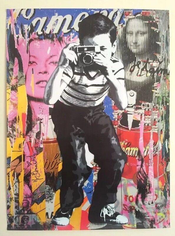 "Mr. Brainwash, 'MR BRAINWASH ""POLAROID BOY"" AUTHENTIC GRAFFITI LITHOGRAPH PRINT ART POSTER', 2018, Posters, Poster paper, Arts Limited"