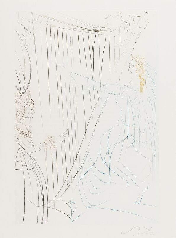Salvador Dalí, 'Six Plates, from Tristan Et Ilseult (M&L 409b, 4106b, 412b, 413b, 419b, 424b; 70-10-D, 70-10-E, 70-10-G, 70-10-H, 70-10-N, 70-10-S)', 1970, Print, Six etchings printed in colours, Forum Auctions