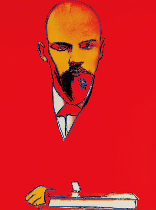 Andy Warhol, 'Red Lenin', 1987, Print, Screenprint in colors, on Arches 88 paper, the full sheet., Phillips