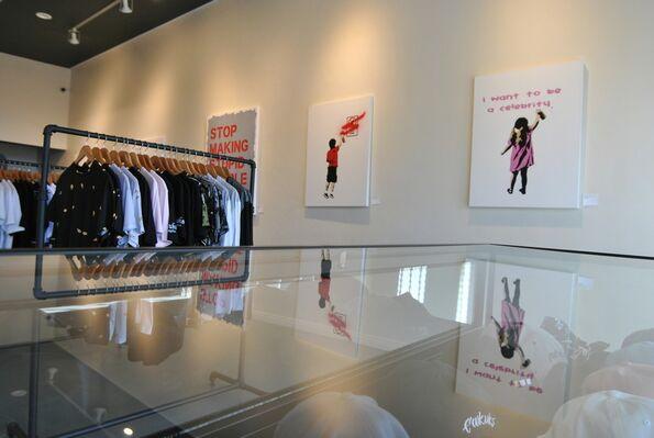 EWKUKS Presents Plastic Jesus: The Art of Crime, installation view
