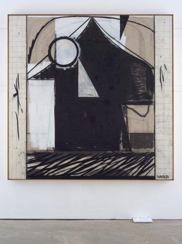 Matthew Burrows, 'Tent', 2014, Painting, Charcoal and acrylic on canvas and linen, Vigo Gallery