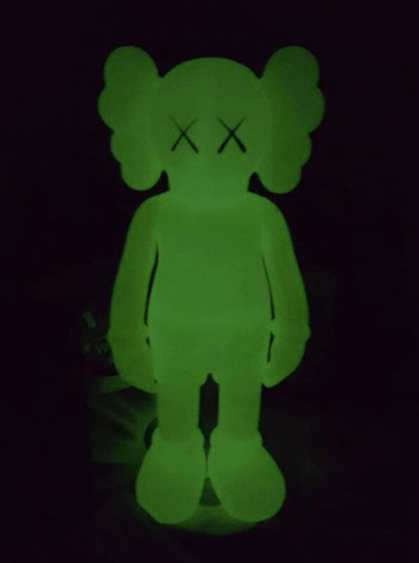 KAWS, 'Companion (5 Years Later) Glow-in-the-Dark Green', 2004, Sculpture, Painted cast vinyl, Dope! Gallery