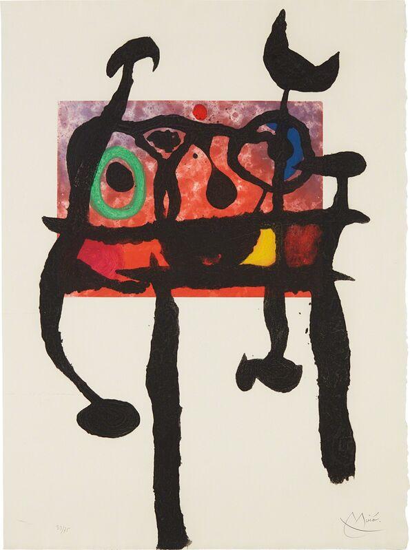 Joan Miró, 'Le Samouraï (The Samurai)', 1968, Print, Aquatint in colors with carborundum, on Mandeure rag paper, the full sheet, Phillips