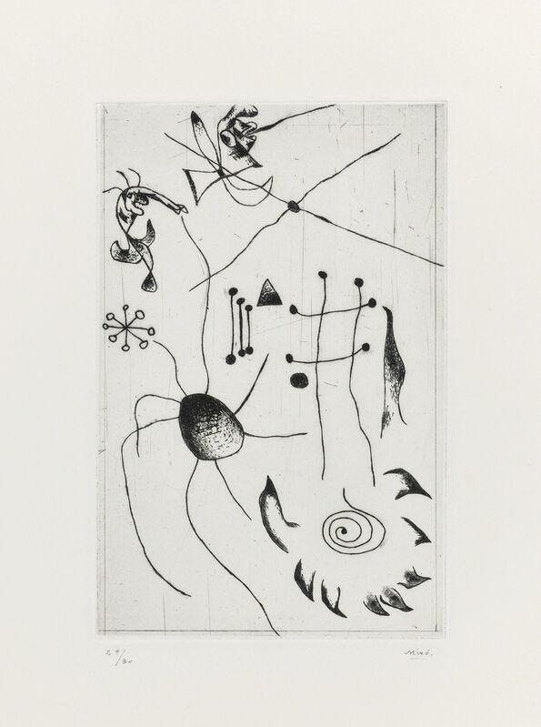 Joan Miró, 'Série noire et rouge: one plate', 1938, Print, Etching, on Arches paper, Christie's