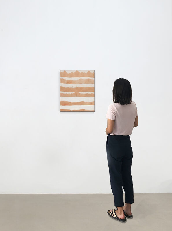 Ayan Farah, 'Wave - Elisé', 2020, Painting, Terracotta on linen, Kadel Willborn