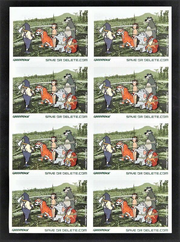 Banksy, 'Stickers GREENPEACE Save or Delete', 2002, Ephemera or Merchandise, Stickers, AYNAC Gallery