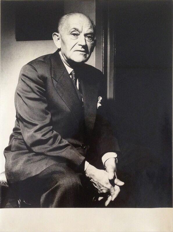 Chargesheimer (Karl-Heinz Hargesheimer), 'Henri Daniel Kahnweiler (Art Dealer)', 1956, Photography, Gelatin Silver Print, Galerie Julian Sander