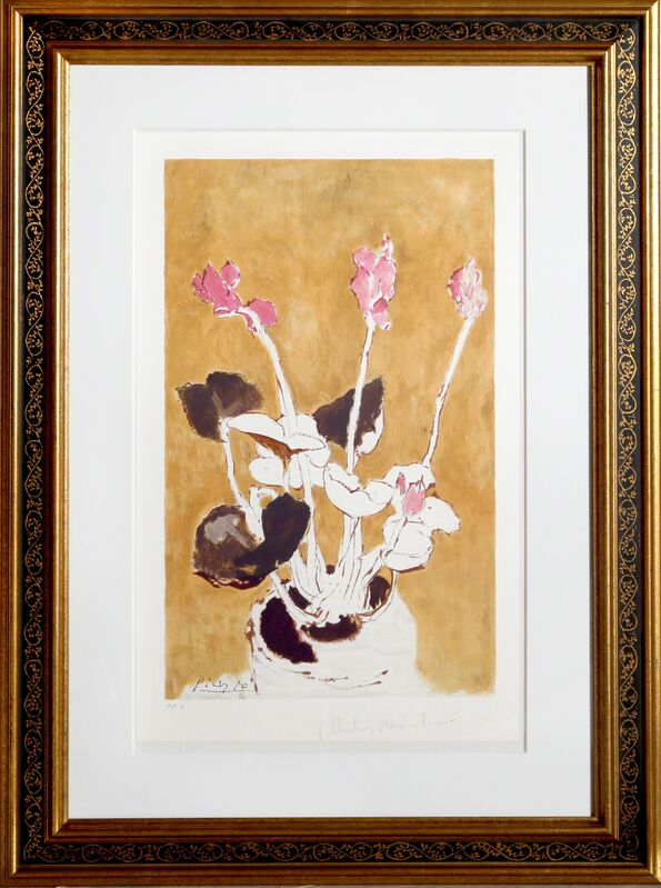 Pablo Picasso, 'Les Cyclamens', 1982, Print, Lithograph on Arches Paper, RoGallery