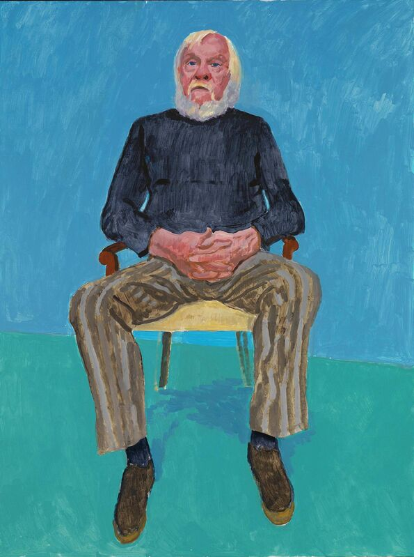 David Hockney, 'John Baldessari', 13th-16th December 2013, Painting, Acrylic on canvas, Royal Academy of Arts