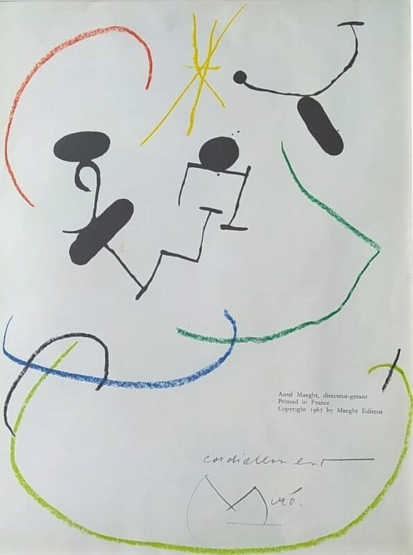 Joan Miró, 'S.T.', 1967, Painting, Drawing on lithographic paper, Galería Atelier