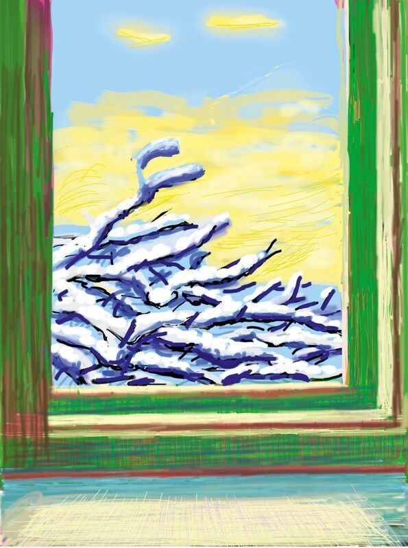David Hockney, 'iPad drawing ''No. 610', 23rd December 2010', 2010, Print, Inkjet print in colours, Forum Auctions