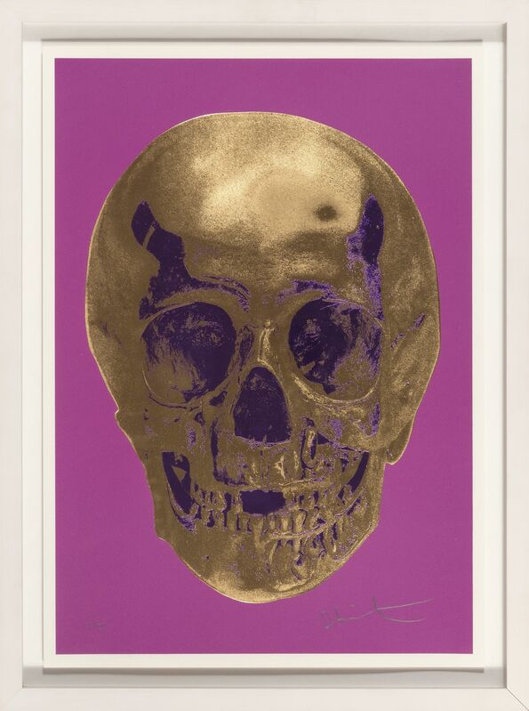 Damien Hirst, 'Till Death Do Us Part - Long Life Purple African Gold Purple Imperial Purple Skull', 2012, Print, Screeprint in colors with Foil Block on Somerset Satin paper, Heritage Auctions