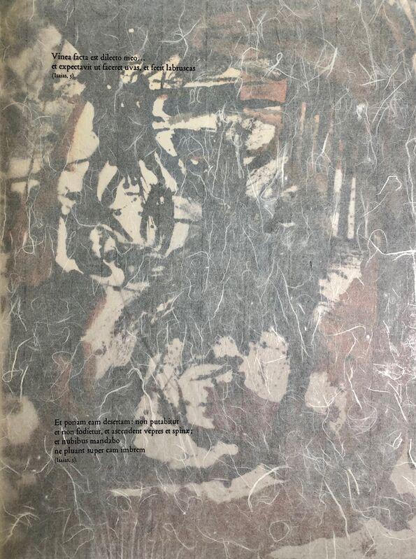 Salvador Dalí, 'The Chosen Vineyard, 'Vine Electa', Biblia Sacra', 1967, Print, Original Lithograph, Inviere Gallery