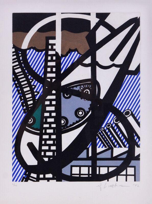 Roy Lichtenstein, 'Un Fenêtre Ouverte sur Chicago (Corlett 271)', 1922, Print, The deluxe etching with aquatint printed in colours, Forum Auctions