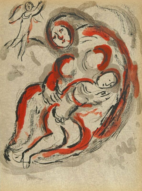 """Marc Chagall, 'Hagar in The Desert from """"Drawings From the Bible""""', 1960, Print, Lithograph, Fine Art Acquisitions Dali"""