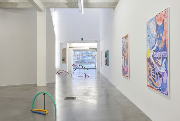 Rags on Buildings, installation view