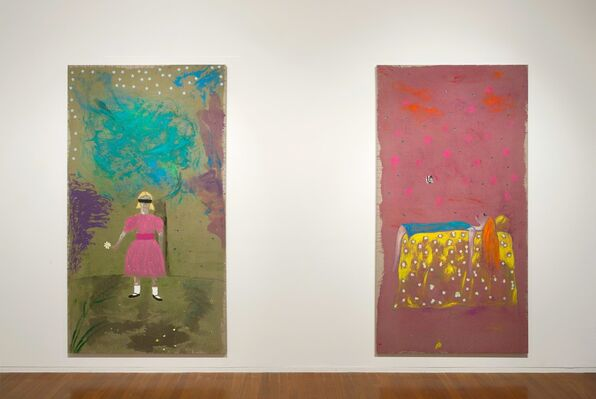 Jenny Watson, Just A Girl, installation view