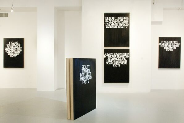 18 Anonymous Facts, installation view