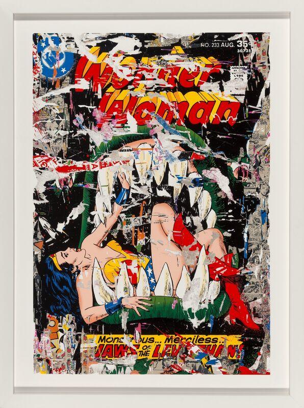 Mr. Brainwash, 'Wonder Woman', 2017, Print, Screenprint in colors on hard-torn archival paper, Heritage Auctions