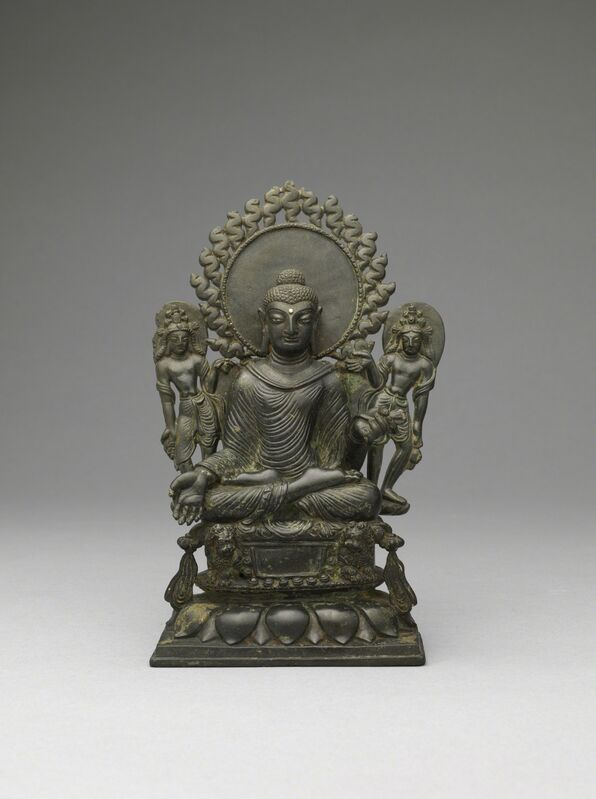'Buddha Sakyamuni', 8th century, Sculpture, Copper alloy, Rubin Museum of Art