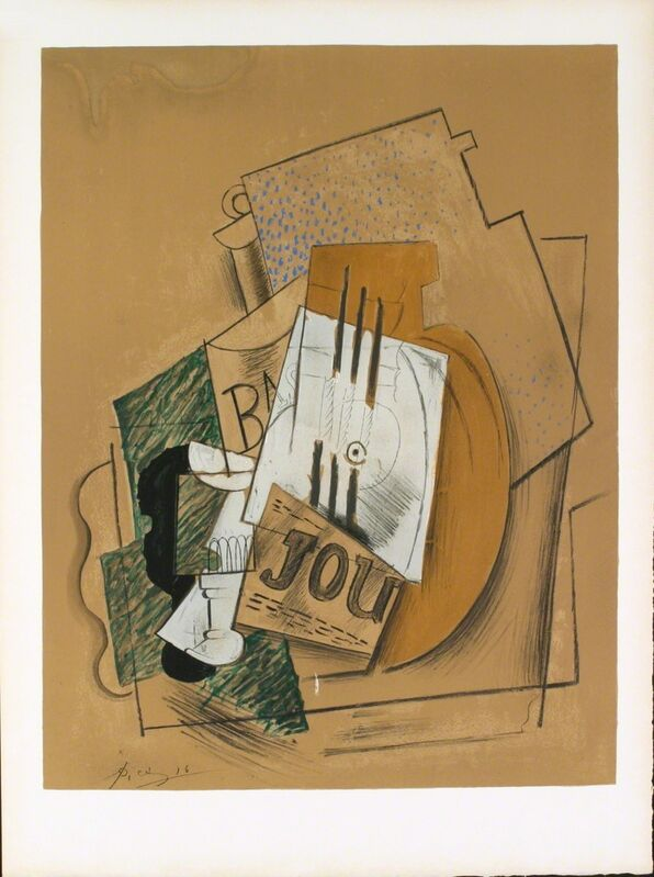 Pablo Picasso, 'Still Life with Bottle of Bass', 1956, Ephemera or Merchandise, Stone Lithograph, ArtWise