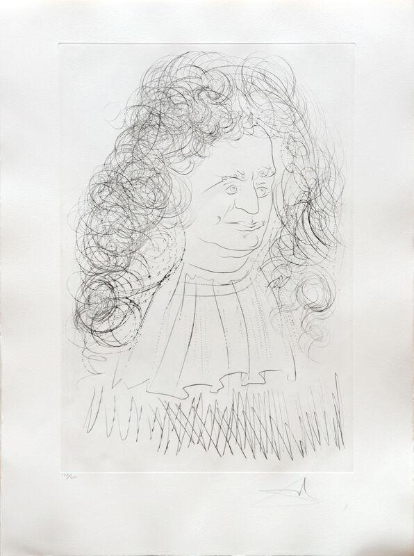 Salvador Dalí, 'Le Portrait de la Fontaine. (Portrait of Jean de la Fontaine.)', 1974, Print, Drypoint etching on Arches paper, Peter Harrington Gallery