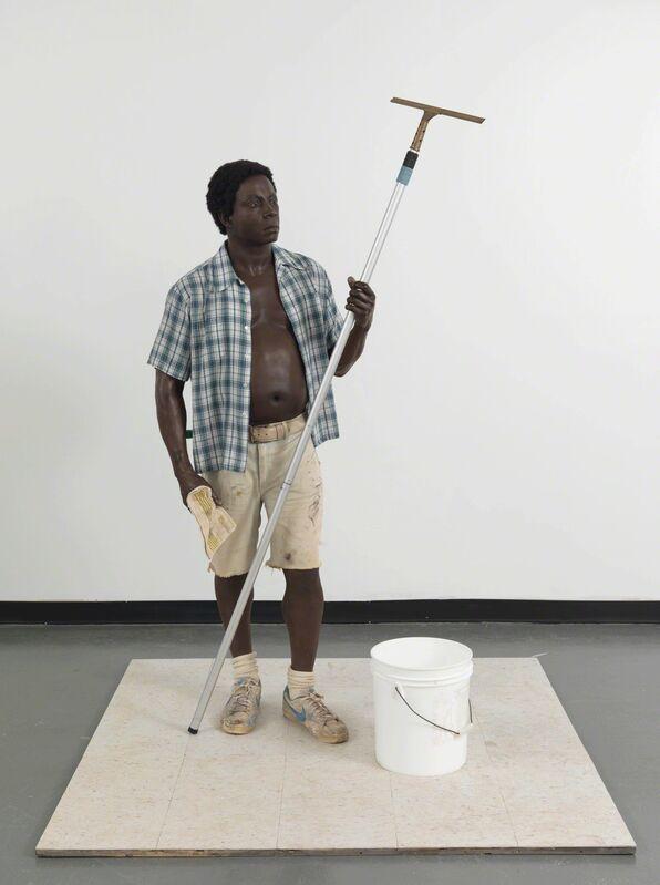 Duane Hanson, 'Window Washer', 1984, Sculpture, Polychromed bronze and mixed media, Gagosian