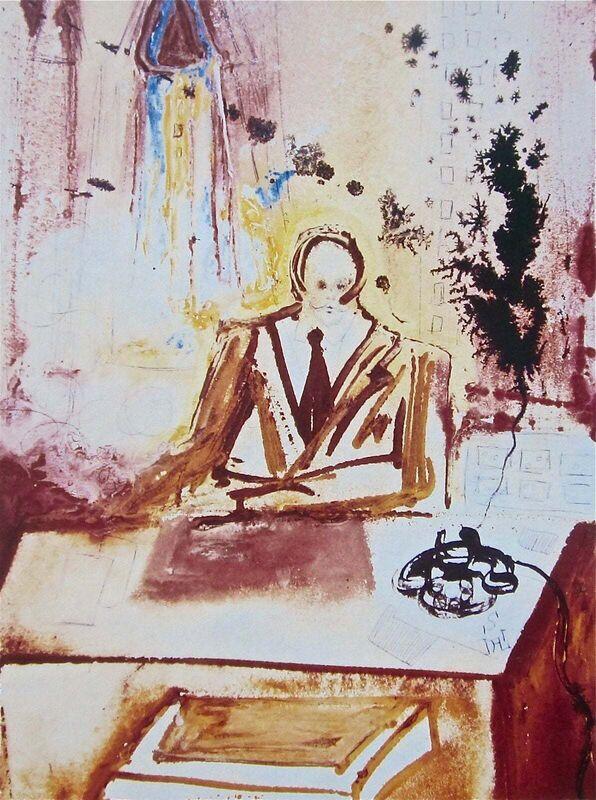 Salvador Dalí, 'The Businessman', 1989, Print, Lithograph on heavyweight wove paper, Art Commerce