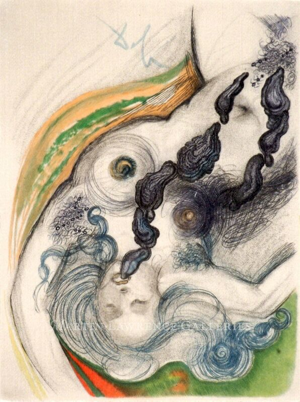 Salvador Dalí, 'Oysters & Nude (The Game of Oysters - Jacques Casanova), 1967', 1967, Drawing, Collage or other Work on Paper, Watercolor, charcoal and pen on watercolor paper, signed 'Dalí' upper center, Martin Lawrence Galleries