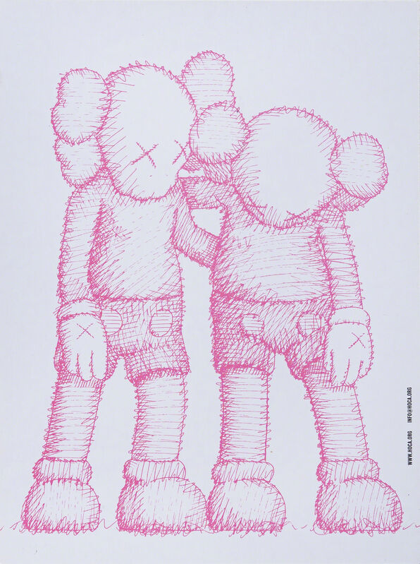 KAWS, 'HOCA FOUNDATION «ALONG THE WAY» SHOW CARD', 2019, Other, Invitation card of the HOCA foundation for the exhibition «Along the Way» in Hong Kong, DIGARD AUCTION