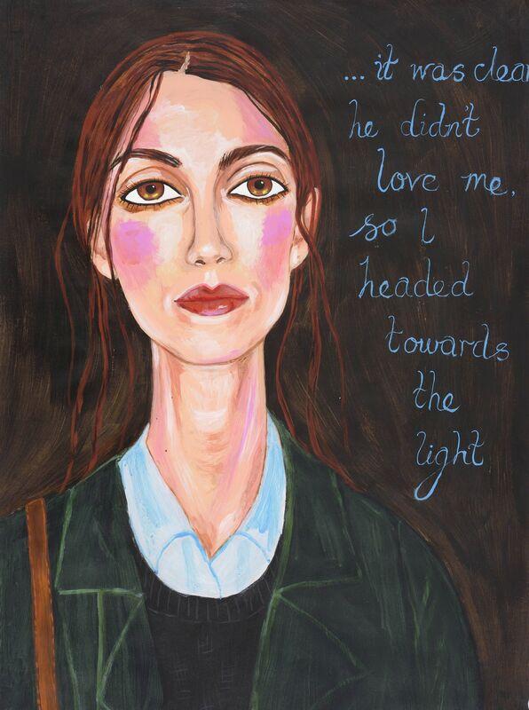 Stella Vine, ''Keira sunshine'', 2013, Painting, Acrylic on hand-made paper, Cob