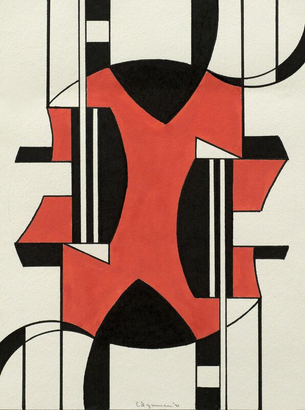 Ed Garman, 'No, 933', 1991, Painting, Gouache on paper, Addison Rowe Gallery