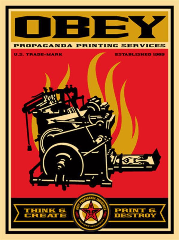 Shepard Fairey, 'Propaganda Printing', 2009, Print, Silkscreen on 80g Speckletone cover stock, EHC Fine Art