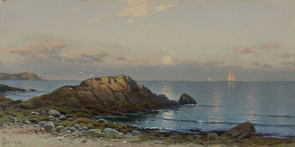Alfred Thompson Bricher, 'Moonlight Seascape'