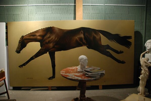 JAMES GILLICK , The Horse, installation view