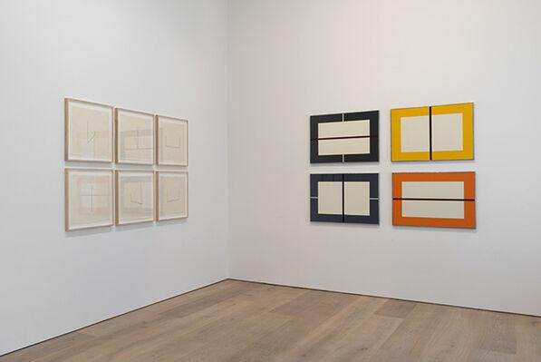 Prints: Donald Judd and Fred Sandback, installation view