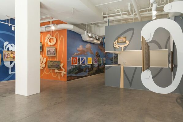 I'M HAVING A DIALOGUE WITH THE UNIVERSE AND YOU'RE JUST SITTING THERE, installation view
