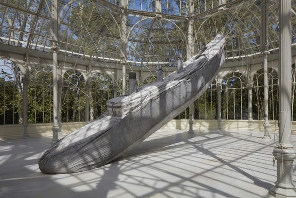 Damián Ortega: The Rocket and the Abyss, installation view