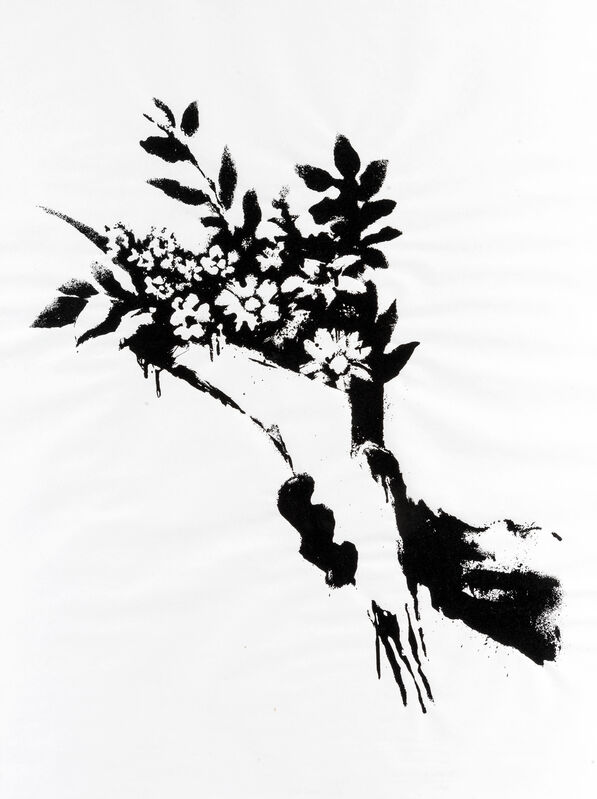 Banksy, 'GDP Flower Thrower', 2019, Print, Screen print on 50gsm paper, Tate Ward Auctions