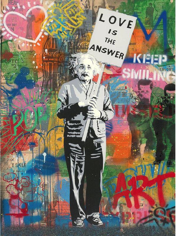 Mr. Brainwash, 'Einstein', 2020, Mixed Media, Silkscreen and Mixed Media on Paper, Contessa Gallery