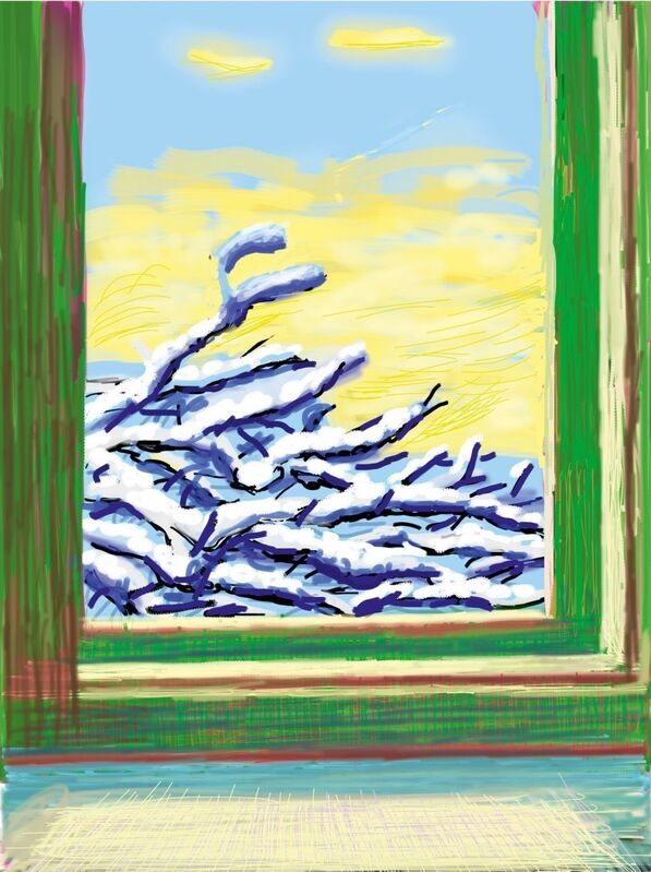 David Hockney, 'My Window. Art Edition (No. 501–750), iPad drawing 'No. 610', 23rd December 2010', 2019, Print, 8-colour inkjet print on cotton-fiber archival paper, with printed book, Lougher Contemporary
