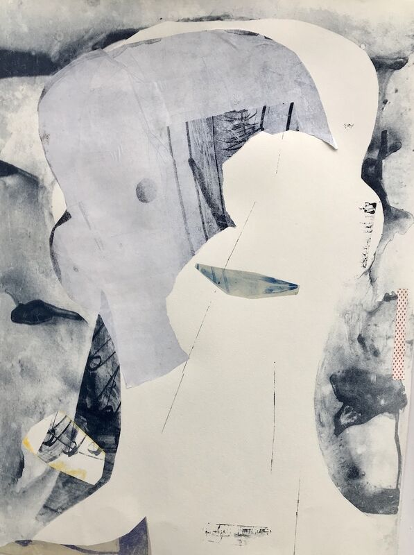 Mary Crenshaw, 'Bounce 3', 2020, Mixed Media, Mono print chine collé, ink on paper, The Painting Center