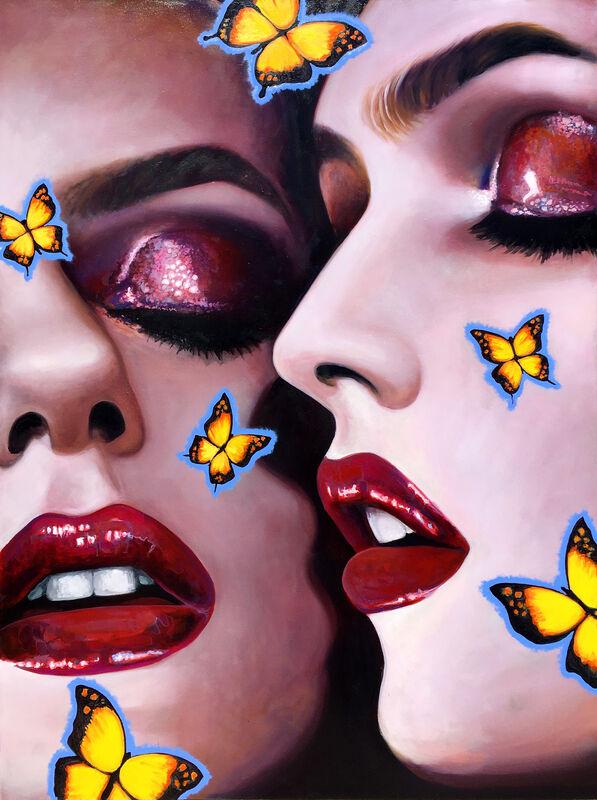 Manzur Kargar, 'Butterfly Kiss', 2020, Painting, Oil on Canvas, HOHMANN