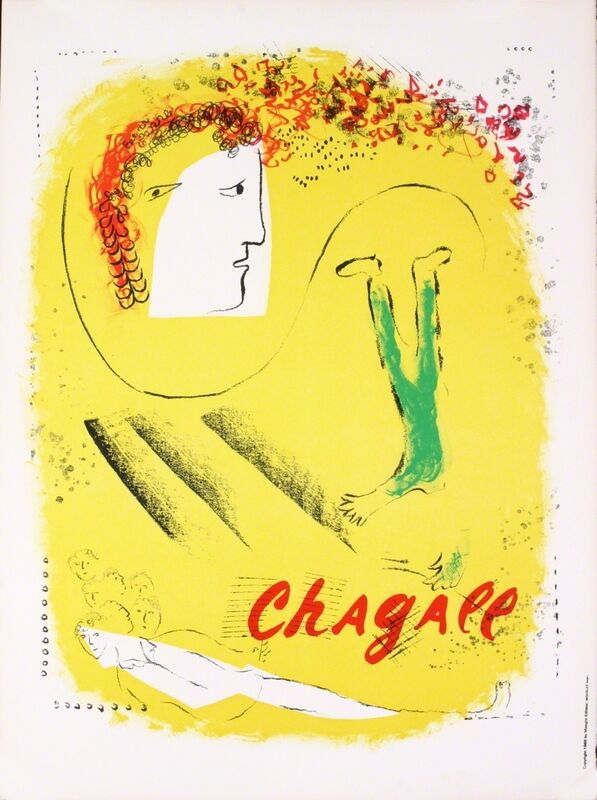 Marc Chagall, 'The Yellow Background', 1969, Print, Lithograph, ArtWise