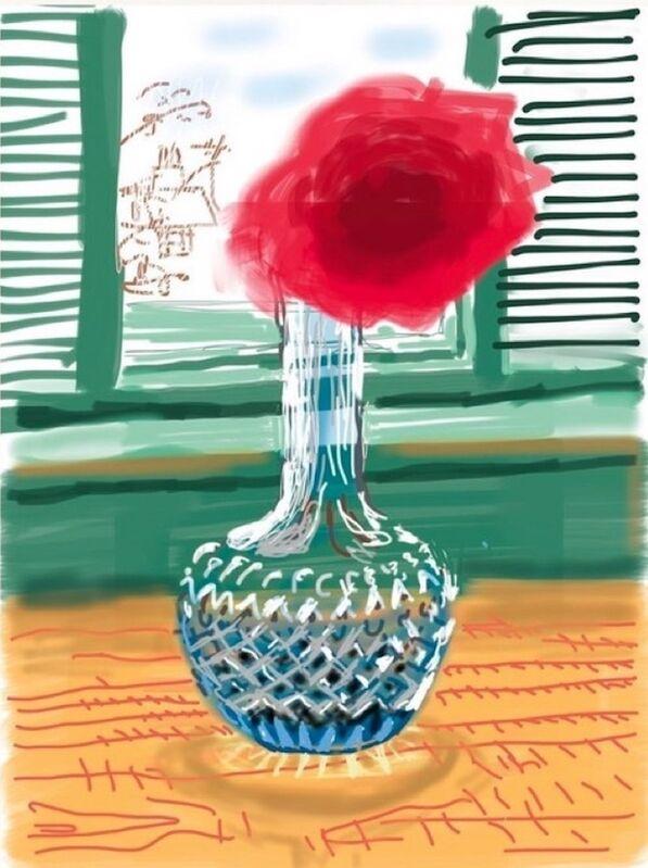 David Hockney, 'iPad Drawing No. 281, 23rd July', 2010-2019, Print, IPad drawing, 8-colour inkjet print on cotton-fiber archival paper, Hang-Up Gallery