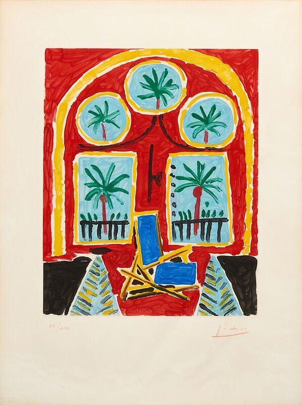 Pablo Picasso, 'La fenêtre de l'atelier à la Californie', 1959, Print, Aquatint in colors on BFK Rives paper (framed), Rago/Wright